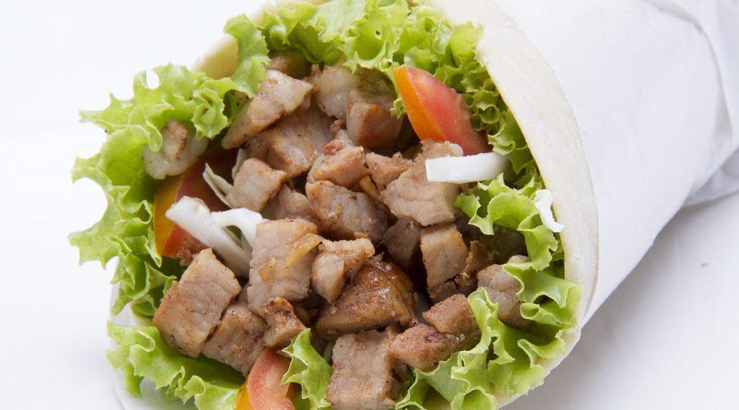 grčka, hrana, jelo, meso, pomfrit, salata, lepinja,